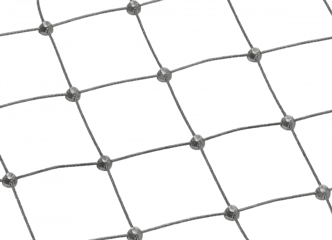 Custom-made Stainless Steel Wire Rope Mesh (1.5 mm/50 mm)