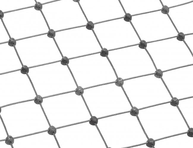 Netz aus Edelstahl nach Maß (2,0 mm/50 mm)