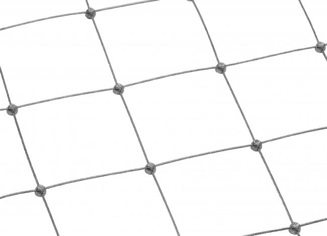 Drahtnetz aus Edelstahl per m² (2,0 mm/100 mm)