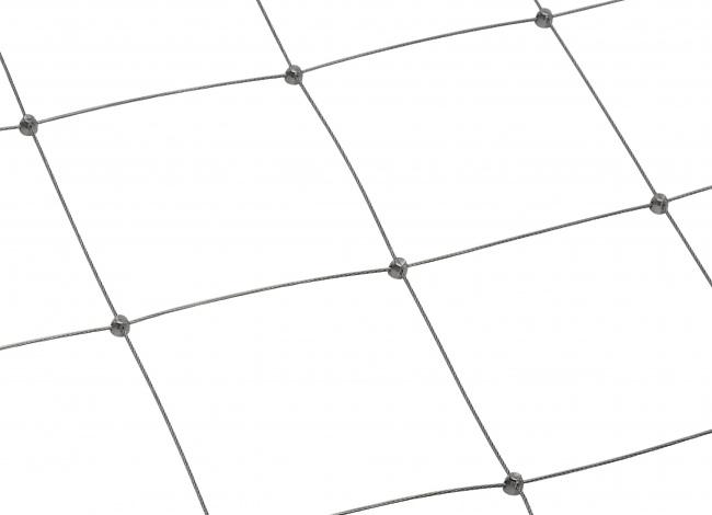 Edelstahl-Dralonetz per m² (2,0 mm/200 mm)