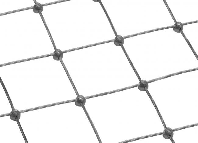 Netz aus Edelstahl (3,0 mm/75 mm) | schutznetze24.de