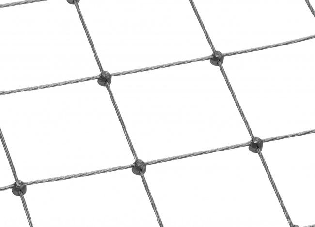 Schutznetz aus Edelstahl nach Maß (3,0 mm/125 mm)