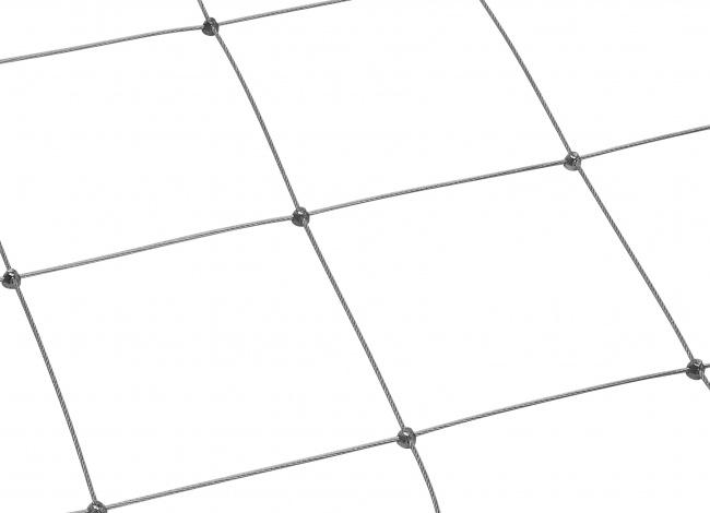 Stahldrahtseilnetz nach Maß (3,0 mm/250 mm)