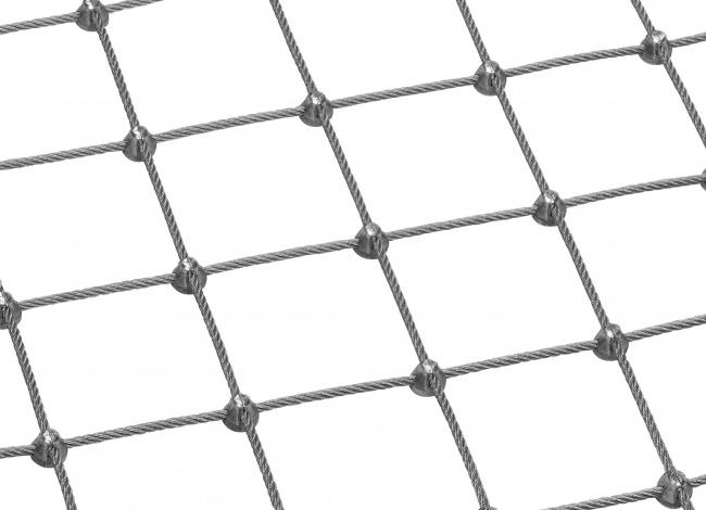 Schutznetz aus Edelstahl per m² (4,0 mm/75 mm)