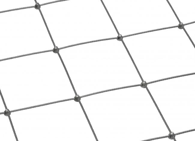 Stahldrahtseilnetz per m² (4,0 mm/150 mm) | schutznetze24.de