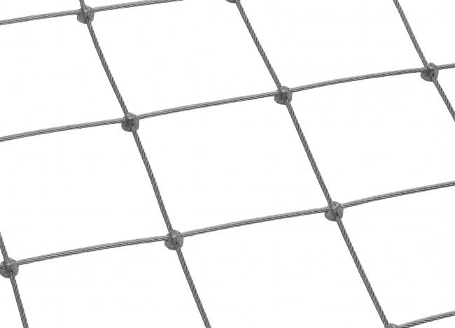 Maßgefertigtes Stahldrahtseilnetz (5,0 mm/125 mm)