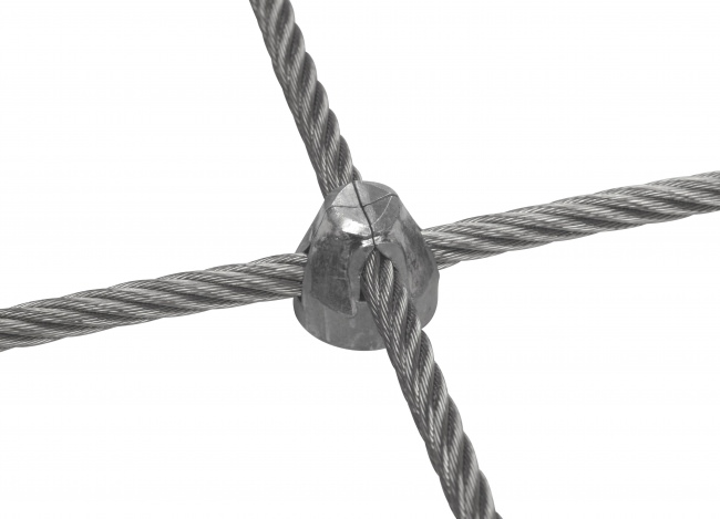 Stainless Steel Wire Rope Net Made to Measure (8.0 mm/100 mm)