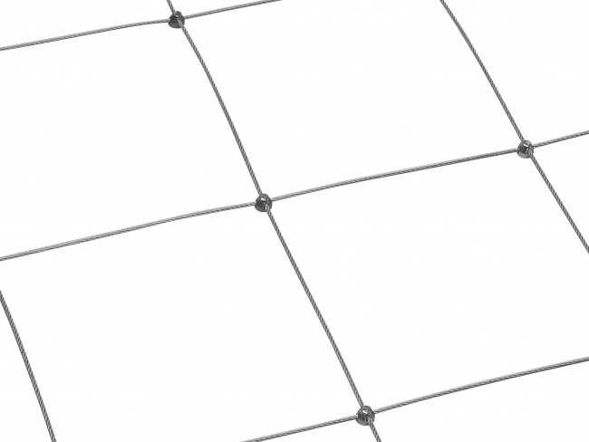 Stainless Steel Wire Net with 2.5 mm Rope Diameter