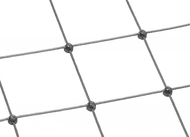 Stahldrahtseilnetz (6,0 mm/300 mm) | schutznetze24.de