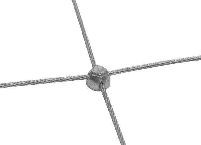 Netz aus Draht mit 50/150 mm Maschenweite | schutznetze24.de