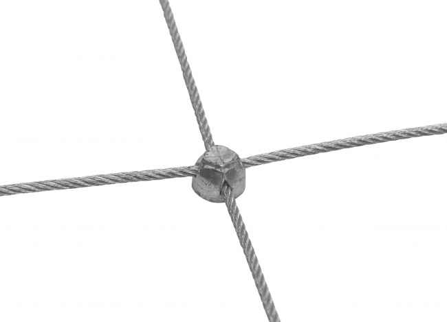 Steel Wire Rope Net by the m² with 50/200 mm Mesh Size