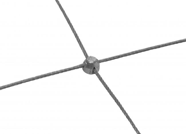 Edelstahl-Seilnetz mit 50/150 mm Maschenweite
