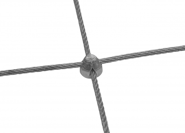 Maßgefertigtes Edelstahlnetz mit 50/200 mm Maschenweite
