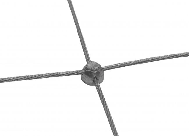 Edelstahl-Seilnetz per m² (2,0 mm/50/300 mm)