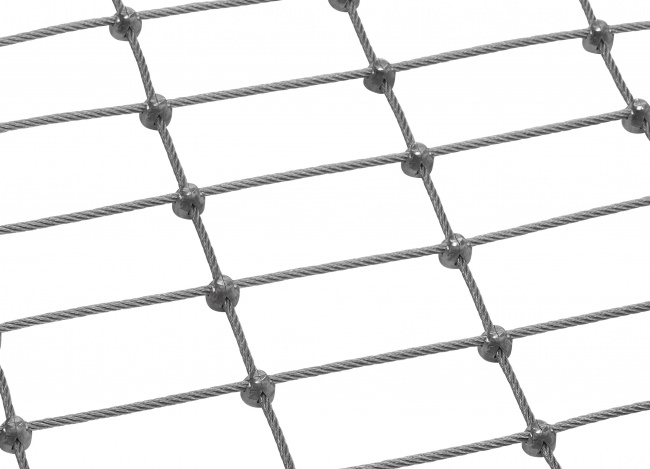 Netz aus Edelstahldraht nach Maß (4,0 mm/50/100 mm)