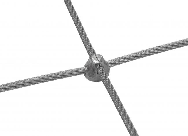 Edelstahl-Dralonetz per m² (5,0 mm/50/100 mm)
