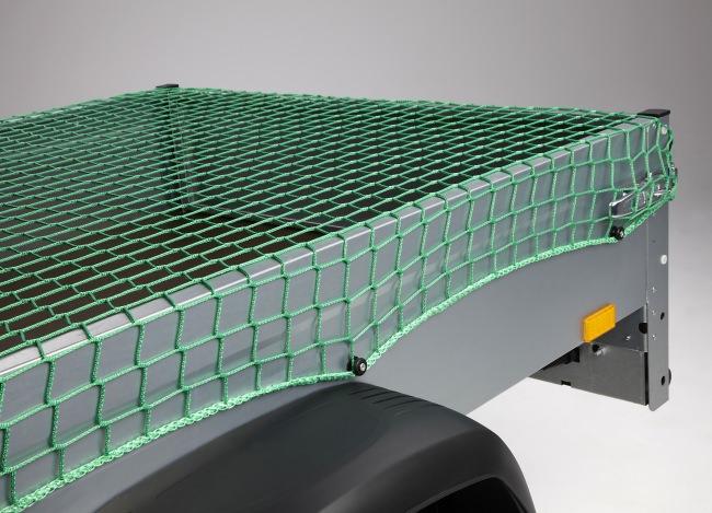 Abdecknetz für Anhänger 2,50 x 3,50 m - grün | Schutznetze24