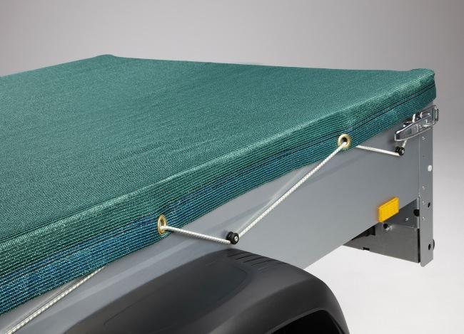 Anhängerplane 2,50 x 2,70 m - dunkelgrün | Schutznetze24