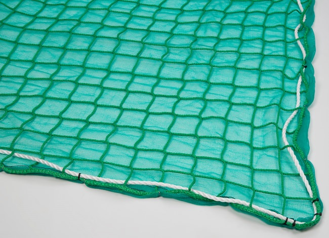 Safety Net with Overlay Panel (100 mm Mesh, Light Woven Fabric)   Safetynet365