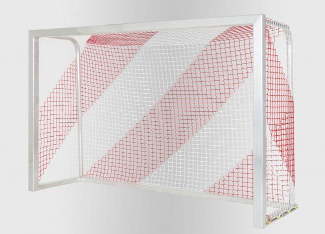 Buntes Tornetz für Hallenfußball nach Maß | Schutznetze24
