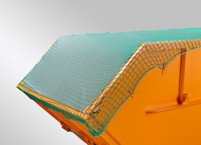 Container-Abdecknetz (DEKRA) 3,00 x 7,00 m - grün | Schutznetze24