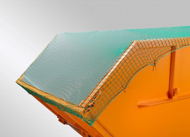 Container-Abdecknetz 3,50 x 8,00 m (DEKRA) - grün | Schutznetze24
