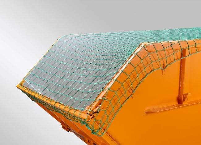 Containerabdecknetz 3,50 x 8,00 m - grün | Schutznetze24