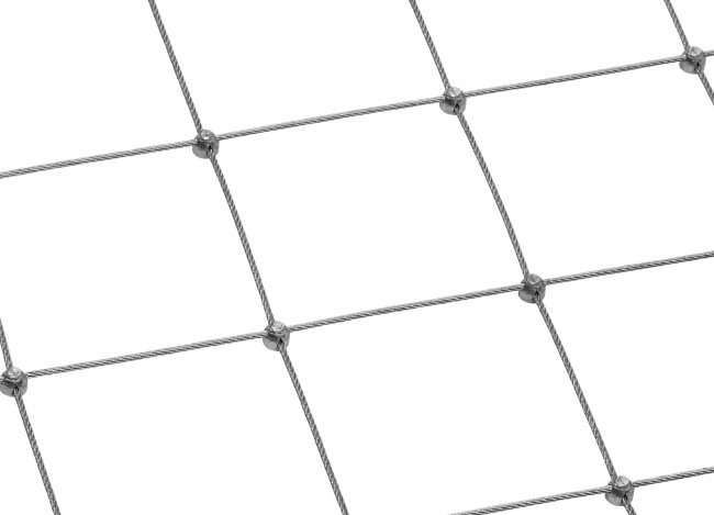 Steel Rope Mesh with 2.5 mm Rope Diameter | safetynet365.com