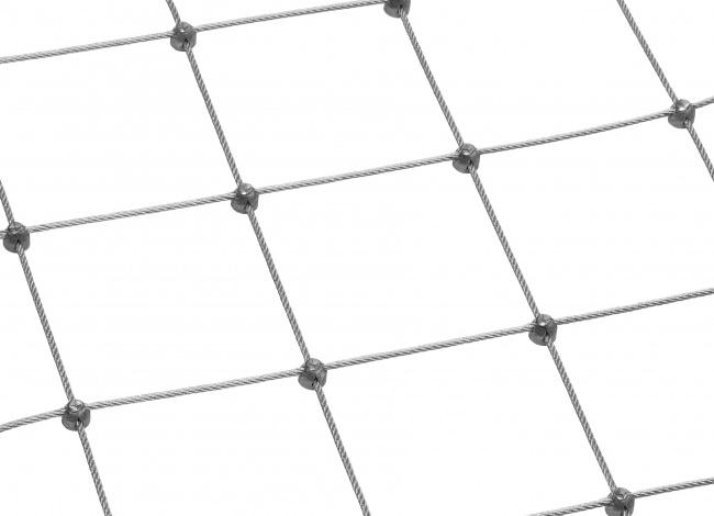 Drahtseilnetz nach Maß mit 100 mm Maschenweite