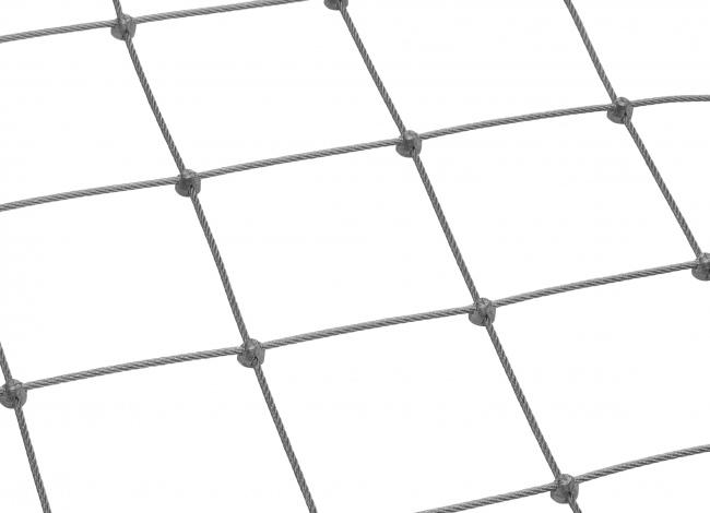 Edelstahl-Dralonetz nach Maß mit 4,0 mm Materialstärke