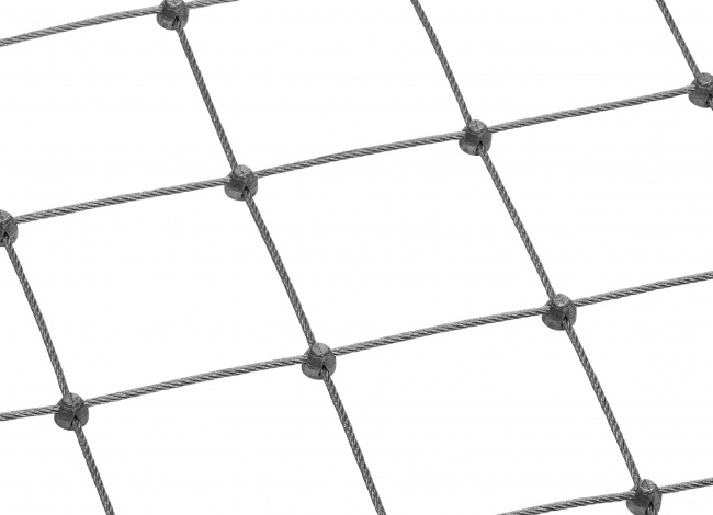 Stainless Steel Wire Rope Mesh Made to Measure with 5.0 mm Rope Diameter