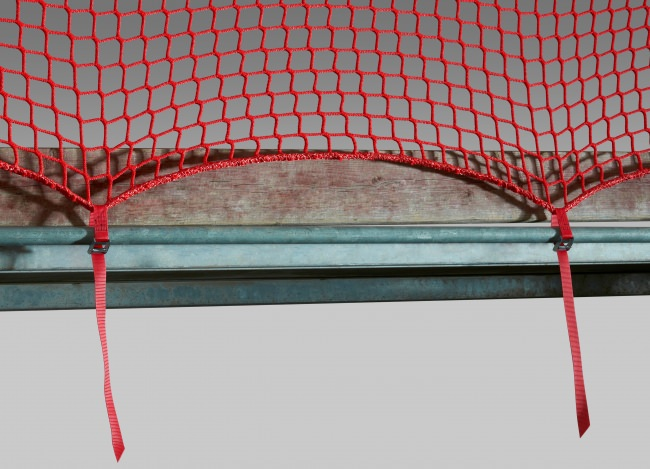 Scaffolding Safety Net with Quick-Release Straps | Safetynet365