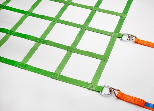 Gurtbandnetz (GS-geprüft) 3050 x 6050 mm für LKW 40t - Komplettset | Schutznetze24