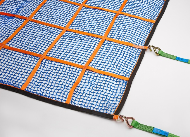 Heavy-Duty Cargo Net (GS-tested) for Box Wagons 1525 x 4825 mm - Complete Set | Safetynet365