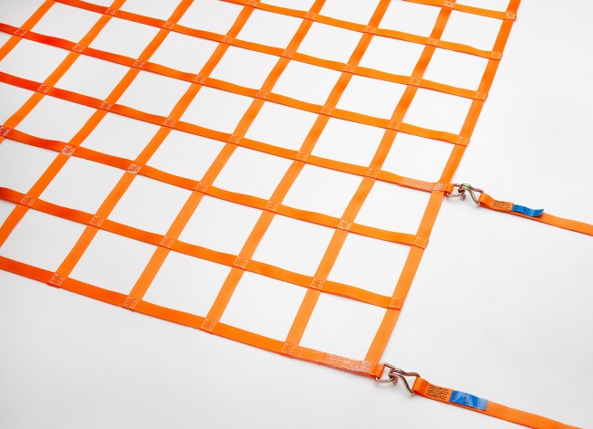 Belt Strap Cargo Net (GS-tested) for Cars 1075 x 1975 mm - Complete Set | Safetynet365