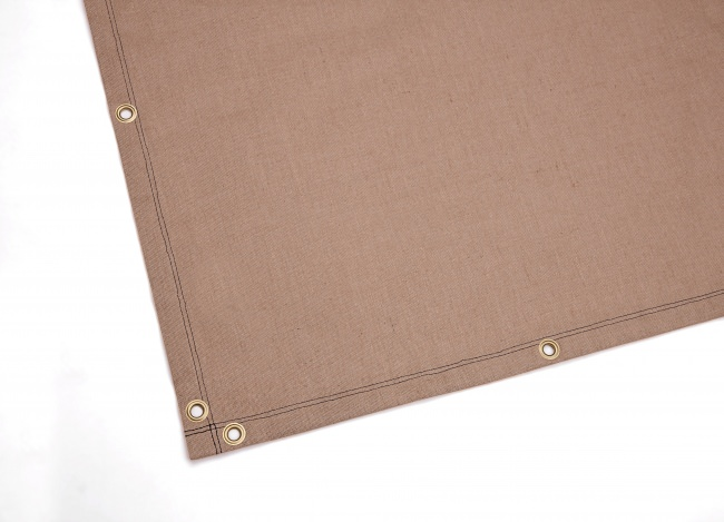 Jute Fabric Custom-Made (by the m²), brown | Safetynet365