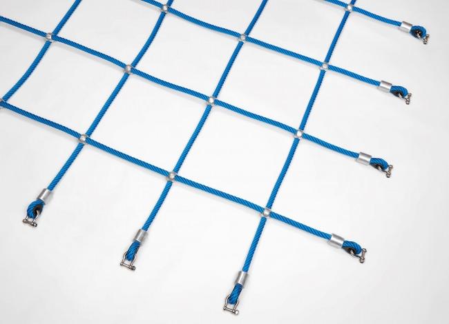 Kletternetz mit Alukugeln nach Maß (per m²)   Schutznetze24