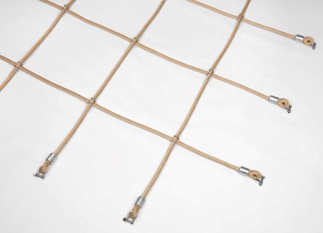 Herkulesnetz mit Klammerverbindung nach Maß | Schutznetze24
