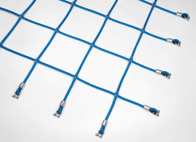 Kletternetz mit Stahlklammern nach Maß (per m²) | Schutznetze24