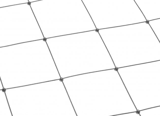 Maßgefertigtes Drahtnetz aus Edelstahl mit 150 mm Maschenweite
