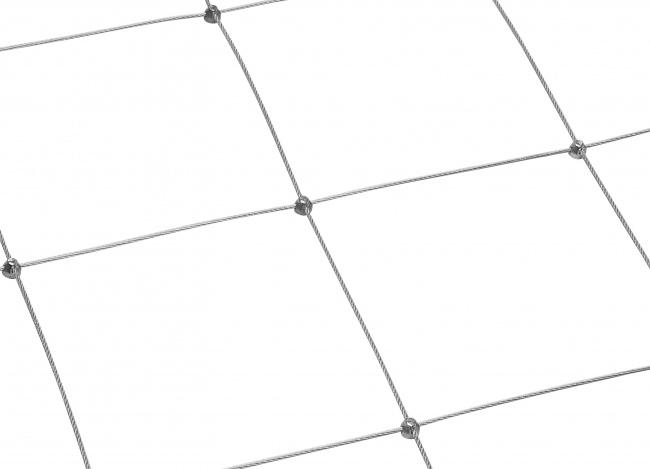 Maßgefertigtes Drahtseilnetz mit 300 mm Maschenweite