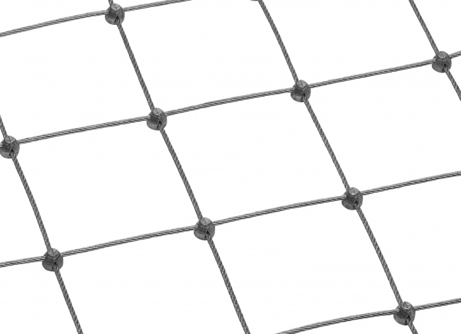 Stainless Steel Wire Rope Mesh Made to Measure with 75 mm Mesh Size