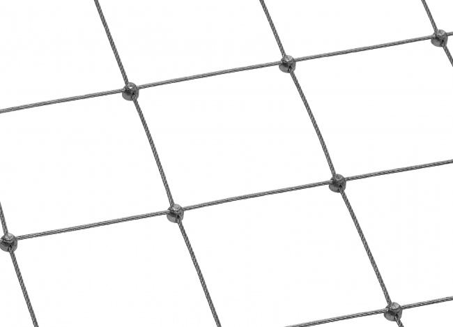 Maßgefertigtes Stahldrahtseilnetz mit 125 mm Maschenweite