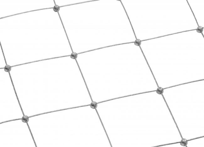 Maßgefertigtes Stahlnetz mit 100 mm Maschenweite