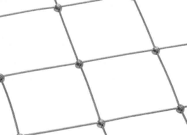 Maßgefertigtes Stahlseilnetz mit 4,0 mm Materialstärke