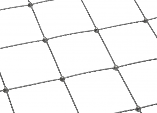 Stainless Steel Wire Rope Mesh by the m² with 4.0 mm Rope Diameter