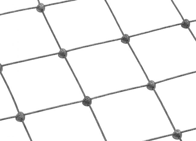 Netz aus Edelstahl nach Maß mit 75 mm Maschenweite
