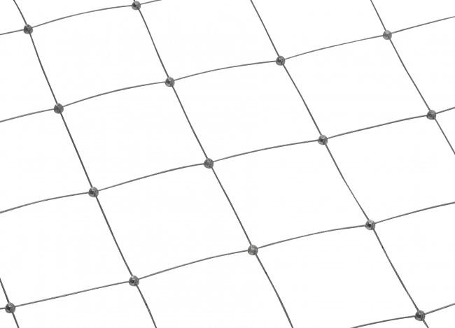 Netz aus Edelstahldraht mit 100 mm Maschenweite