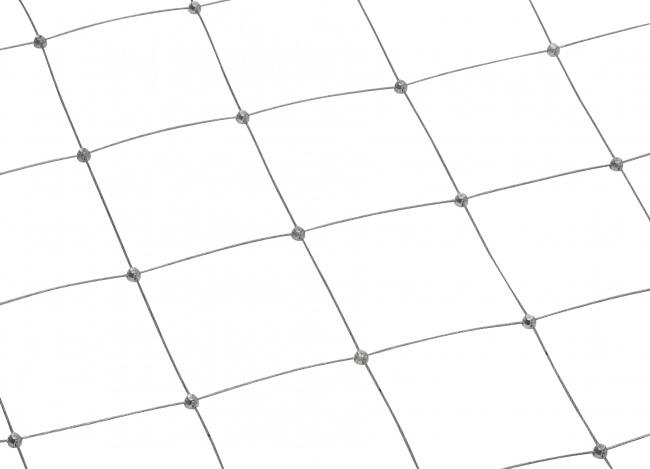 Netz aus Stahldraht nach Maß mit 100 mm Maschenweite