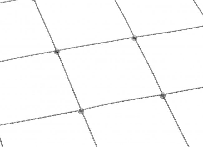 Netz aus Stahldraht nach Maß mit 150 mm Maschenweite